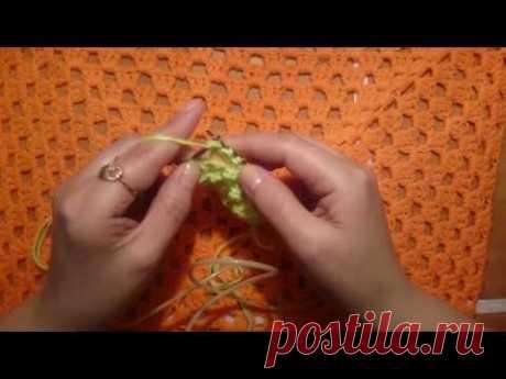 #Вязание спицами:Красивый  узор В КОПИЛКУ: Розочки (три из трёх)