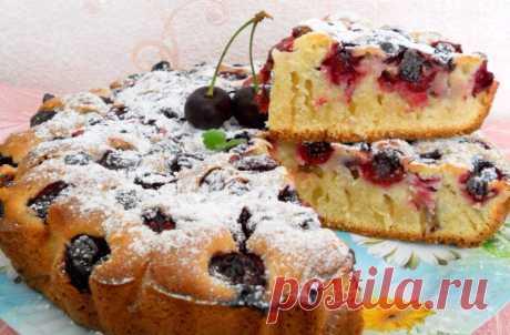 Быстрый вишневый пирог - Пошаговый рецепт с фото своими руками Быстрый вишневый пирог - Простой пошаговый рецепт приготовления в домашних условиях с фото. Быстрый вишневый пирог - Состав, калорийность и ингредиенти вкусного рецепта.