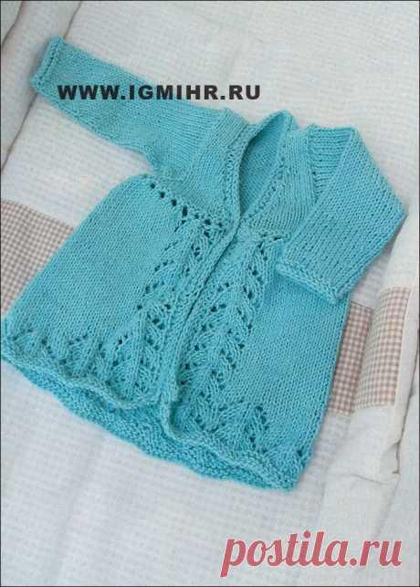 сообщение rimirk : Голубой жакет с ажурным узором, для малышки 6 месяцев. Спицы (16:45 15-11-2013) [3659889/299720247] - lyubov.59@list.ru - Почта Mail.Ru