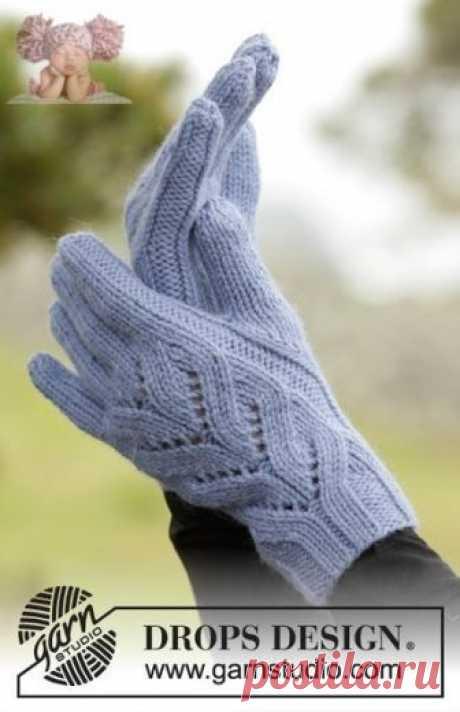 "Изящные перчатки ""Парижанка"" от DROPS спицами!"