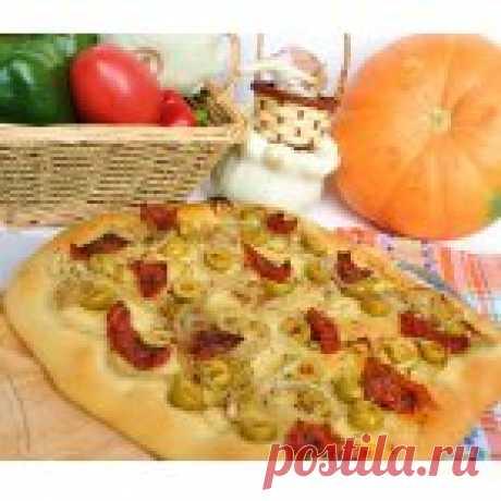 Фокачча с оливками и вялеными помидорами Кулинарный рецепт