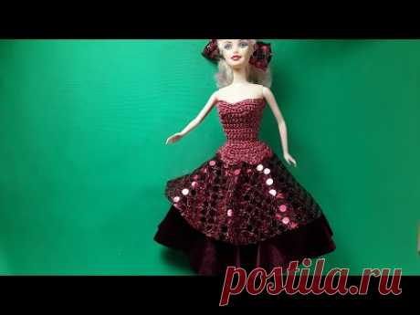 Двойная юбка для Барби. Урок шитья. Мастер-класс.