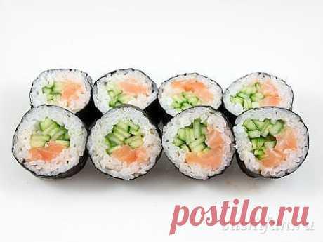 Большие сяке маки | рецепт | sushifan.ru