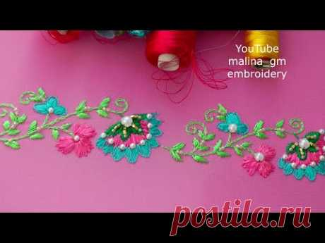 Embroidery: Oriental border line * beadwork * top embroidery