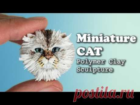 Miniature Cat Sculpture with Polymer Clay // Speed Sculpting