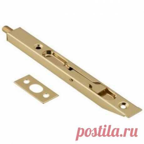 Упор торцевой (ригель) 160 PB золото - Фурнитура для дверей - Двери