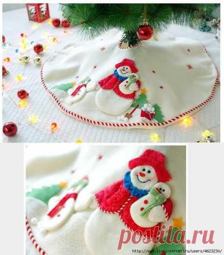 Спідничка для новорічної Ялинки. 25 фото-ідей | Ідеї декору
