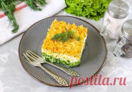 Слоеный салат с зеленым яблоком — Sloosh – кулинарные рецепты