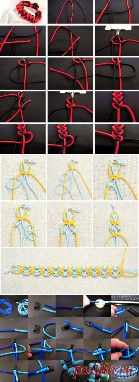 Варианты плетения браслета: мастер-класс — Сделай сам, идеи для творчества - DIY Ideas