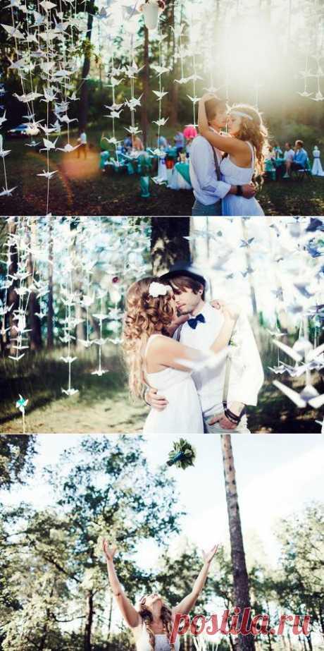 1000 de papel zhuravlikov: la boda de Katia y Fedi - WeddyWood