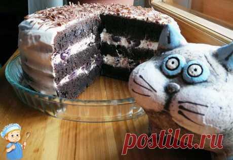 Шоколадный торт «Фантазия» на Новый год