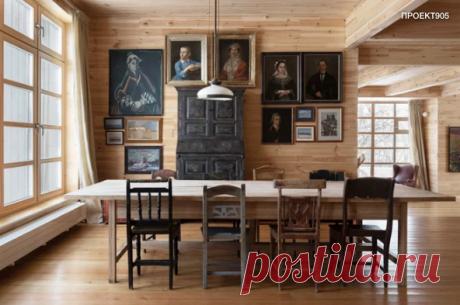 Современный деревянный дом с ностальгическим настроением и мастерской для живописи на открытом воздухе