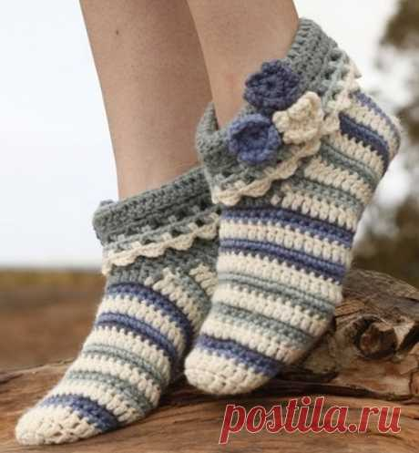 Тапочки-носочки «Аннабель»от Drops Design