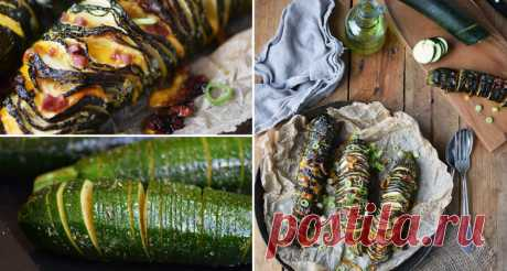 Made cuts on zucchini, watered with oil … Now vegetable marrows became a favourite vegetable in my family!