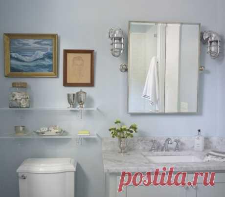 Что повесить на стену над унитазом – картины для туалета, полки, зеркала, полотенцесушитель и другие идеи!