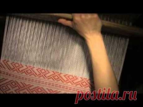 Узорная полоса в технике двухуточного браного ткачества 2