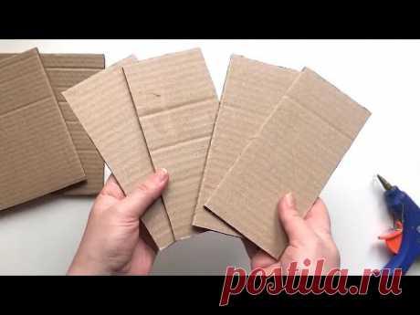 8 идей шкатулок из картона своими руками
