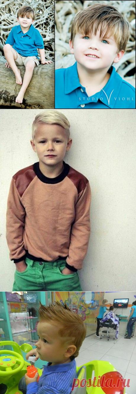 Los peinados más a la moda para los muchachos, los peinados de estilo para los muchachos, los peinados infantiles para el muchacho 2017-2018 - la foto mirar