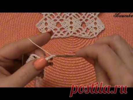 Вязание крючком ажурного узора ЁЛОЧКА - YouTube
