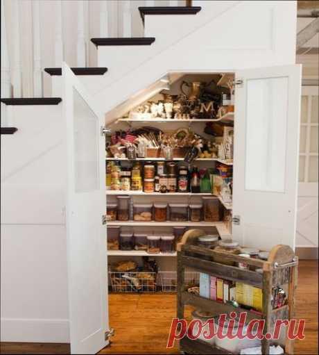 Идея шкафа под лестницей | РЕМОНТ-УЗЕЛ