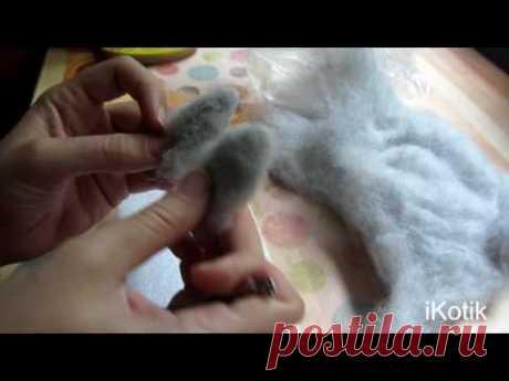 El gatito del fieltro: la Clase maestra la batanadura seca