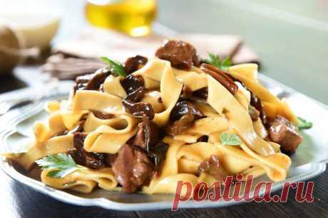 Рецепты пасты с грибами в сливочном соусе от Шефмаркет