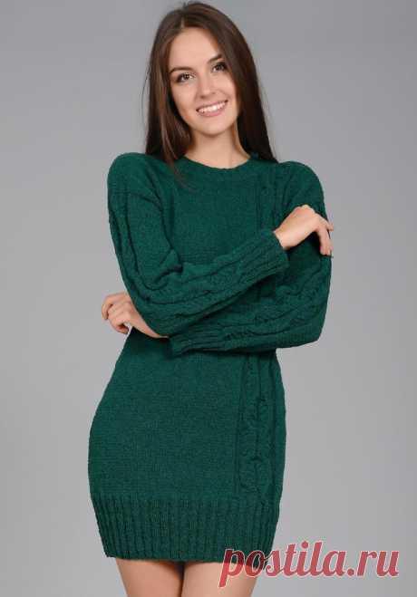 Короткое платье с узором коса