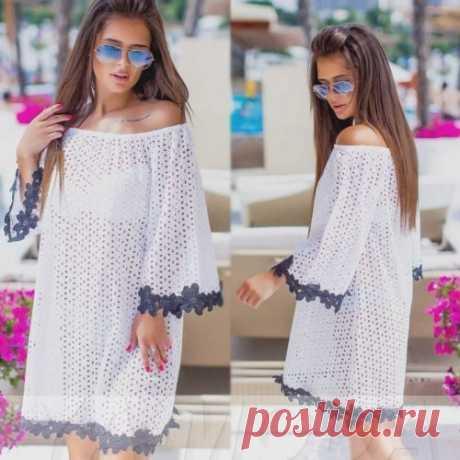 Белое пляжное платье : новинки пляжной одежды уже на сайте. Смотри фото. Скидки.