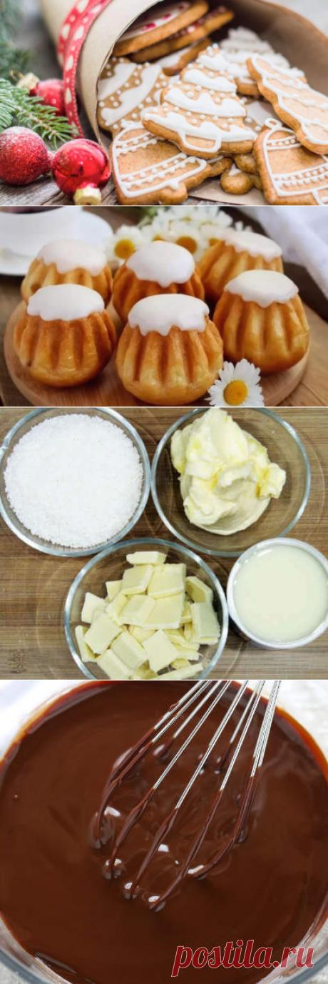 Сахарная глазурь и помадка для украшения пряников, печенья, кексов и пасхальных куличей – простые и доступные украшения в домашних условиях