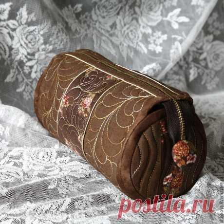 Шьем красивую косметичку из ткани для пэчворка | Журнал Ярмарки Мастеров