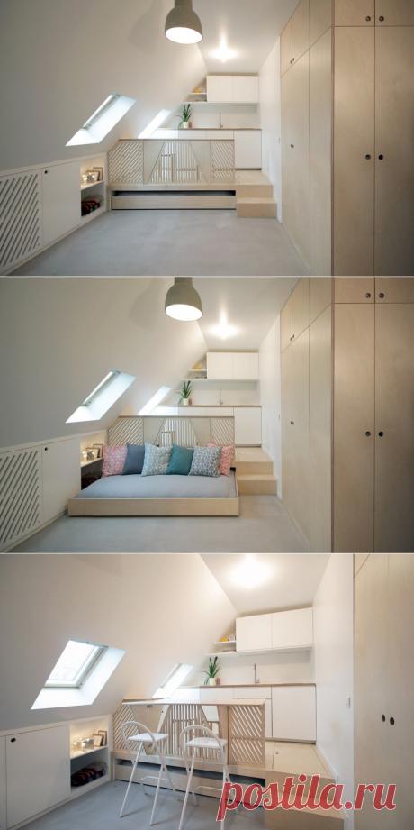 Мансардная квартира площадью 15 м2 в Париже — Lodgers - Дизайн интерьера