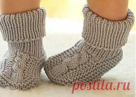 Как связать красивые детские носочки спицами: двумя спицами | DomKlubka.ru | Яндекс Дзен