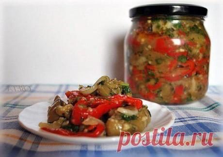 Маринованный салат из баклажанов. Даже не сомневайтесь, получится очень вкусно