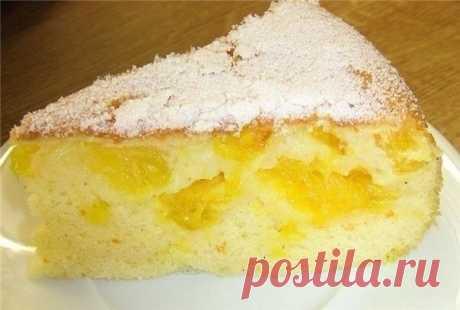 Любимый десерт на новый лад — Шарлотка с апельсинами