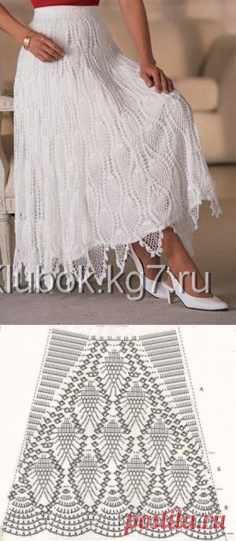 Белоснежная юбка | Клубок