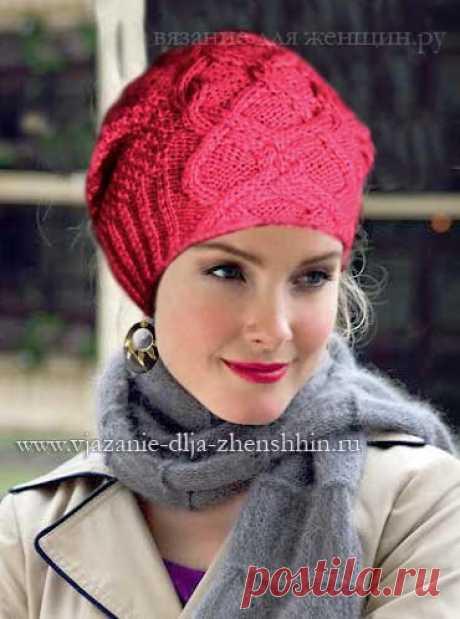 Модные вязаные шапки осень-зима