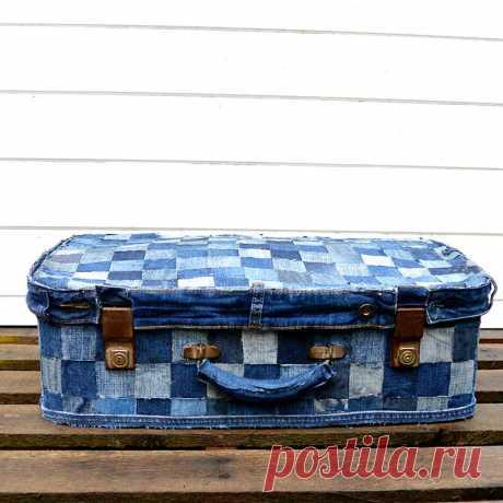 Учебное пособие по чемодану из денима Easy No Sew - синий цвет Pillar Box