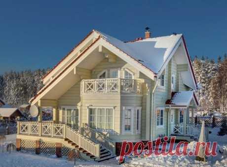 Симпатичный дом из бруса