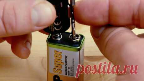 Маленькая да удаленькая: друг сына показал 5 хитроумных трюков с батарейкой