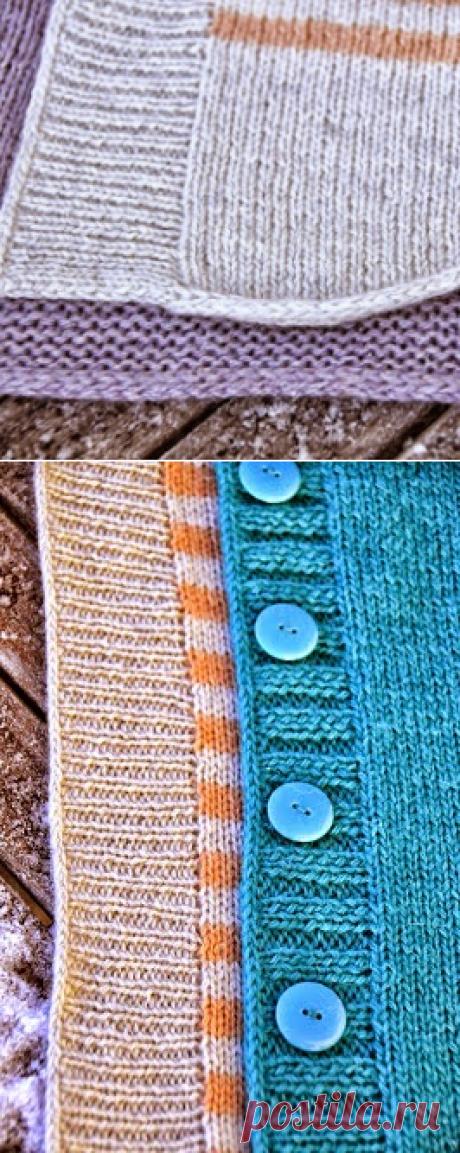 """Модели вязания со схемами и описаниями: Закрытие петель краев и планок техникой """"i-cord"""" (полый шнур)"""