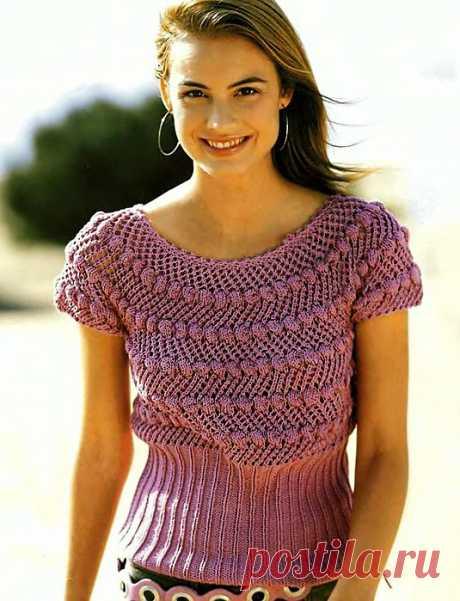Пуловер с высокой резинкой.