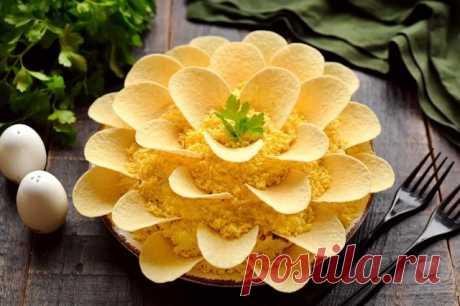 Рецепт вкусного и красивого салата «Хризантема». Его гости съедают первым! - Всем на заметку! Готовим вкусный салат Хризантема на праздничный стол. Такое название салат получил за...