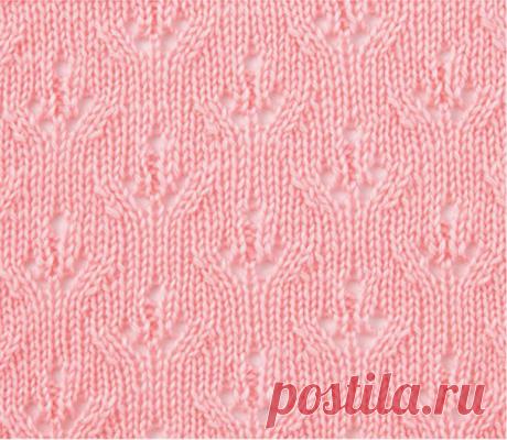 Ажурные листочки и цветочки спицами — 10 узоров для летнего вязания | Ирина СНежная & Вязание | Яндекс Дзен