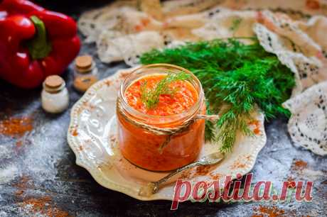 Паста из болгарского перца на зиму по-Азербайджански - рецепт с фото пошагово