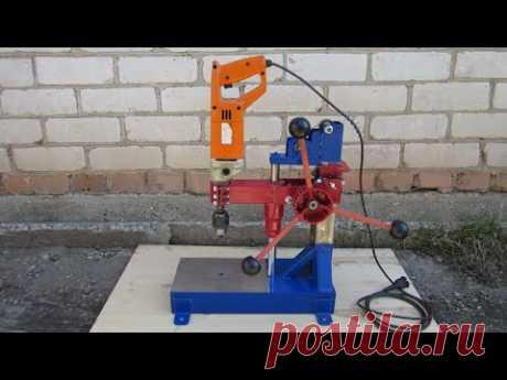 Сверлильный станок из дрели/handmade drill press