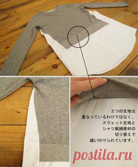 Скрестить свитер с блузкой (подборка) / Свитер или кардиган: вторая жизнь / ВТОРАЯ УЛИЦА