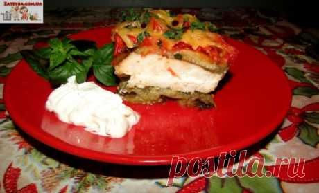 Куриная запеканка с баклажанами и помидорами — Кулинарная книга