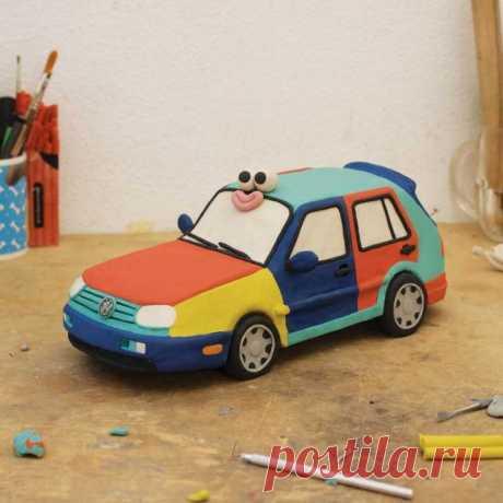 Машина из пластилина - ТОП-120 фото изделий из пластилина. Пошаговый мастер-класс по лепке для начинающих с простыми схемами работы