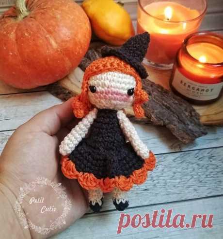 Вязаная кукла ведьмочка: описание крючком   AmiguRoom