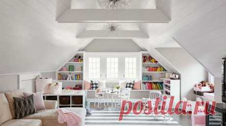 Как оформить интерьер на мансардных этажах в стиле прованс - 30+ фото | Lavanda-decor | Яндекс Дзен